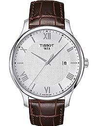 Tissot Men's T-Classic T063.610.16.038.00 Brown Leather Swiss Quartz Dress Watch