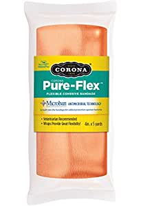 Corona Pure-Flex Flexible Cohesive Bandage 橙色 4Inch X 5Yard