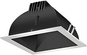 RAB Lighting NDLED6S-80YN-B-S LED 装饰模块 6 个方形 35K LED 80 度黑锥形银色戒指