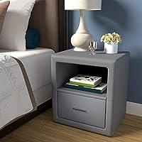 Boyd Sleep 当代卧室家具:Lombardi 软垫床头柜,单抽屉和开放式架子,人造皮革,灰色