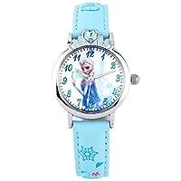 Disney 迪士尼 儿童手表女孩冰雪奇缘卡通手表女童石英手表54153L蓝色