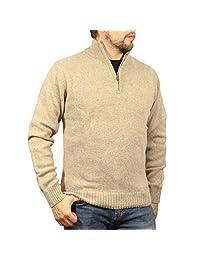 jacksmith 男式 shetland 羊毛1/4拉链开衫毛衣针织毛衫套头衫