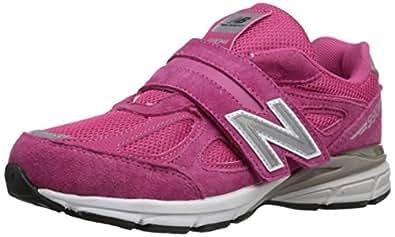 New Balance 儿童 KV990V4 跑步鞋 Pink/Pink 1 M US 儿童