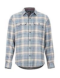 Marmot Jasper Midweight 法兰绒长袖,男式,长袖户外衬衫,远足衬衫,防紫外线,透气