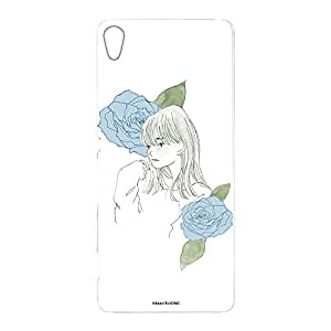 卡丽 壳 透明 TPU 印刷 女孩和玫瑰 智能手机壳 对应全部机型 女の子とバラA 2_ Xperia XA F3115