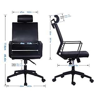 符合人体工程学的可调节皮革办公椅