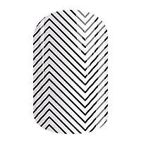 Zig Zag �C Jamberry *贴 �C 全套 �C 白色细黑色 V 形图案