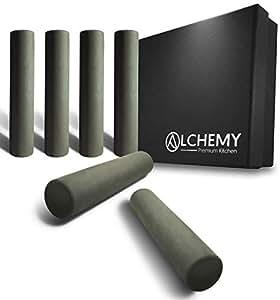 Alchemy Kitchen Sous Vide 举重器 | 防止浮动袋和烹饪 | 比Sous Vide Rack 用途更广 | 食品*不锈钢和硅胶真空真空加热配件. B07SCSZVS3 灰色
