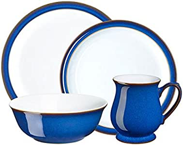 Denby 帝国蓝色餐盘 4 件套 12-Pound IMP-400