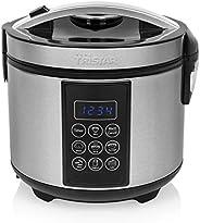 Tristar RK-6132 数字不锈钢米饭和多功能锅,1.5升容量,500瓦功率,保温功能高达24小时,7种不同的烹饪程序,配件