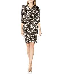 亞馬遜品牌 - Lark & Ro 女式長袖啞光針織前扭連衣裙