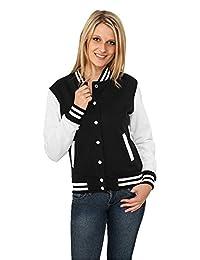 都市经典女式女式双色学院 sweatjacket 长袖毛衣外套