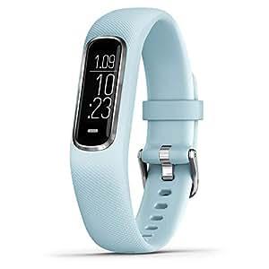 GARMIN 佳明 中性 标准码 光电心率血氧压力智能通知运动健身跑步游泳手环 vivosmart4 蓝色/白色