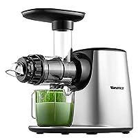 Willsence 慢速挤压榨汁机,5 种模式调节,冷压榨机带倒转功能,防滴漏,静音马达,蔬菜和水果食谱,不含双酚 A
