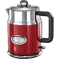 Russell Hobbs 燒水壺 復古紅色 1.7L 2400W 快速燒煮功能 復古設計搭配水溫顯示 注水量顯示 壺嘴采用優化設計 復古茶具21670-70