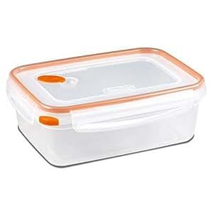 sterilite 03221106ultra-seal 食品容器,方形,透明色/橘色,8.3-cups 橙色 8.3 Cup