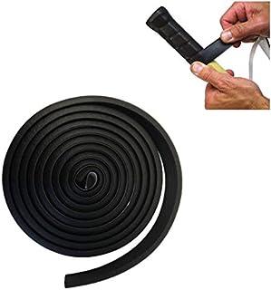 Comfort Axis 优质加厚泡沫握把适用于体育用品、健身、家庭、工具和硬件以及草坪和花园,1.91 厘米 x 1.52 米,黑色