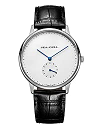 SEA-GULL 海鸥 机械男士手表 简单稳重 D819.620(亚马逊自营商品, 由供应商配送)