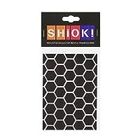 Hirzl 中性款 – 成人 Shiok。 框架贴纸蜂窝(黑色)DIN A6 (14.8 x 10.5 cm)