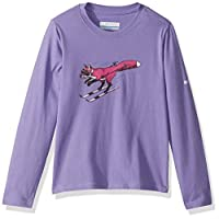 Columbia 男童 Big Animal Antics 长袖衬衫 Paisley Purple Fox Graphic Large