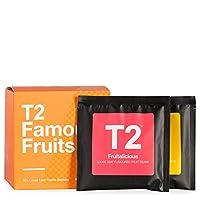 T2 茶匙著名水果组合茶样品礼盒,每包 10 个散叶冰茶袋