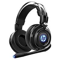 HP 有線立體聲游戲耳機帶麥克風,適用于 PS4、Xbox One、Nintendo Switch、PC、Mac、筆記本電腦、頭戴式耳機 PS4 耳機 Xbox One 耳機和 LED 燈