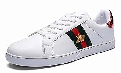 维恩克 春夏男女鞋 透气板鞋 百搭情侣鞋 跨境爆款小白鞋系带休闲鞋子4白红35
