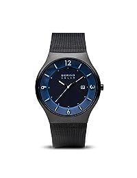 Bering 丹麦品牌 太阳能系列 光动能男士手表 14440-227(亚马逊自营商品, 由供应商配送)