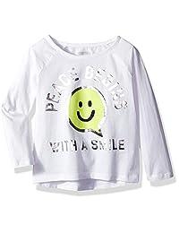 Gymboree 女童七分袖插肩图案 T 恤
