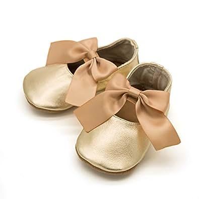 Elk Kids 芭蕾蝴蝶结金色 0-6 个月