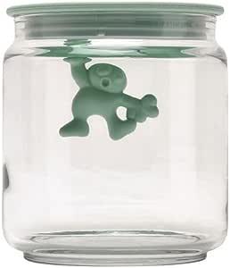 "Alessi AMDR04 MS""Gianni a little man holding on tight""玻璃带仿古塑料树脂,薄荷绿"