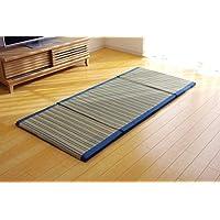 IKEHIKO 地垫 草地垫 卧室垫 『ACE 四折』 蓝色 约80×180cm (中间材料:聚氨酯30mm)