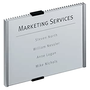 DURABLE Info Sign, 8-3/8 x 6-1/8 Inches, Aluminum (480523)