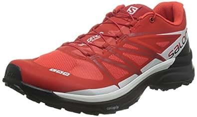 Salomon 萨洛蒙 S-LAB WINGS 8 中性 户外防滑耐磨越野跑步鞋 L39121500 竞赛红 40(UK 6.5)