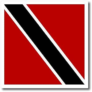 3dRose ht_31595_3 Trinidad and Tobago Flag-Iron on Heat Transfer for White Material, 10 by 10-Inch