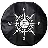 Life is Good Tire Cover Lig Compass Ngtblk