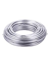 BENECREAT 厚铝线可弯曲金属雕刻线 Silver (6 Gauge) 6 Gauge AW-BC0002-03B-01-US