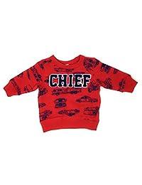 Carter's 男童红色消防员运动衫 225h329prt (5T)