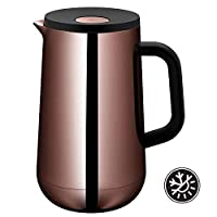 WMF Impulse Vintage Copper Tea Coffee 1?Litre Thermal Jug Height 23.4?cm Glass Insert Automatic Closure 24?Hour Cold and Warm Gift Box