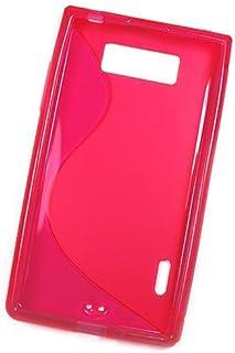 So'axess S 系列 - LG Optimus L3 E400 硅胶手机壳 - 黑色/粉色