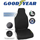 Goodyear GY1121 黑色防水汽车座椅套采用 * 纯氯丁橡胶面料,*大限度保护侧面*气囊兼容,适合大多数车辆,易滑动,可调节背带,55.88 cm 宽 x 134.62 cm 高
