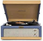 Crosley CR6234A-BT Dansette Junior 便携式唱机 带辅助接口 蓝色/棕褐