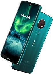 Nokia 诺基亚 7.2 6.3英寸Android UK SIM-Free智能手机,4GB RAM 64GB存储空间(双SIM卡)-青绿色