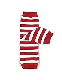 ALLYDREW 条纹,波尔卡圆点和 V 形图案婴儿腿套加热器和幼儿腿套,适合男孩和女孩