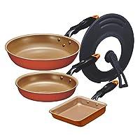 [成套购买] evercook 平底锅套装 4点セット単品 オレンジ EFPGSST4AZ