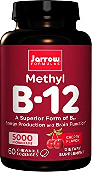 Jarrow Formulas 甲基钴胺素(甲基B12),有益于大脑,5000 mcg,60粒锭剂