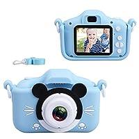 Amycute 儿童相机,数码自拍相机 20MP 1080P 高清视频录像机 IPS 屏幕幼儿卡通玩具摄录机,带 32GB SD 卡