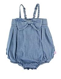 RuffleButts 婴幼儿 女孩 蝴蝶结 前襟 泡泡连体衣 带荷叶边