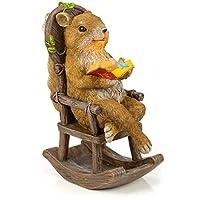 VP Home Squirrel 阅读和放松摇椅太阳能花园灯