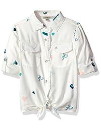 Calvin Klein 女童全身印花领带衬衫